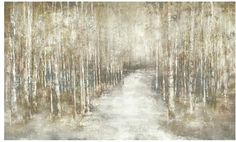 A calming hush will seep into your senses when you place the Birchwood Canvas Giclee in your lodge home dining room or farmhouse living room.