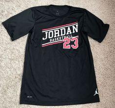 Nike Jordan Basketball Dri Fit Boys Size XL Age 13-15 Number 23 EUC Active Wear #Nike #Everyday