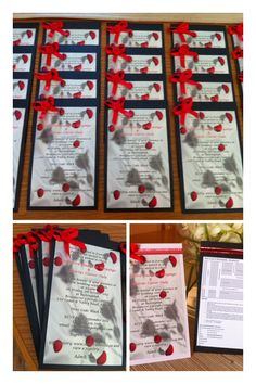Black and red dainty invitations