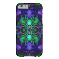 Purple kaleidoscope flower pattern barely there iPhone 6 case