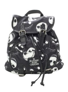 The Nightmare Before Christmas Jack Slouch Backpack from hottopic! So cute! Planning on going back to public school next year....definitely could be a bag choice :)