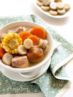 burdock root soup, with links to health benefits and potential side effects with excess consumption