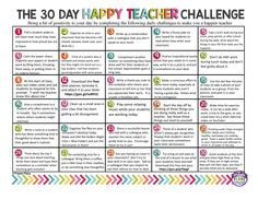 Free 30 Day Happy Teacher Challenge Autism Classroom, Spanish Classroom, School Classroom, Castle Classroom, School Staff, Middle School Teachers, High School, Teachers Toolbox, Classroom Organization