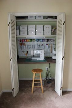 "Creative ""craft room"" for small spaces."