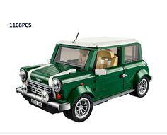 112.26$  Buy here - http://alielf.worldwells.pw/go.php?t=32776272303 - Hot Classic Creator Retro MINI COOPERS car building block assemblage model Picnic compatible legoeinglys.10242 city toys kids 112.26$