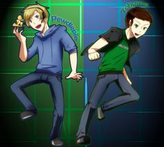 pewdiepie | Tobuscus and Pewdiepie by ~ChibiGuardianAngel on deviantART