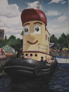 Theodore Tugboat, acrylic on canvas