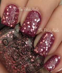 The PolishAholic: OPI Mariah Carey Collection Swatches  pink yet lavender glitter polish