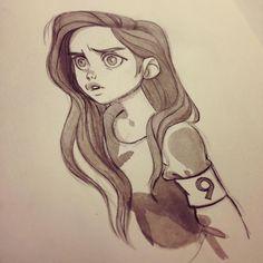 regram @anna_cattish  #Inktober 9 #girls