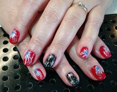 Fireworks nail art by Heather Jenkins