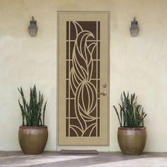 Titan Elegante Ii Desert Sand Aluminum Surface Mount Single Security Door Common 36 In X 96 In Actual 38 5 In X 97 563 In Lowes Com Security Door Beautiful Doors Custom Metal Art