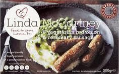 Linda McCartney 6 vegetarian onion & rosemary sausages - extremely tasty with mash, peas and gravy! Vegan Slimming World, Slimming World Recipes, Calories In Sugar, Linda Mccartney, Tasty, Yummy Food, Food Items, Vegan Friendly, Vegetarian Recipes