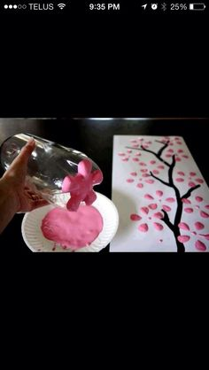 Cherry Blossom Tree DIY--Just in time for President's Day crafting... or the Cherry Blossom Festival in Washington, D.C.?