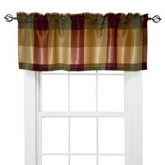 "Target Home Plaid Valance - Red (54x18"")  (I love Jan for posting these... Perfect for my kitchen!)"
