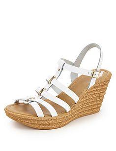 Tan Leather High Heel Gladiator Sandals