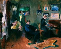 Harriet Backer, Musikk, interiør fra Kristiania Lund, North Europe, Ludwig, Painters, Norway, Piano, Doll, Interior, Music
