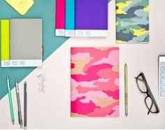 "Agenda 2016 A5 ""Camouflage"" Rosa"
