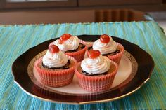 Black forest cup cakes