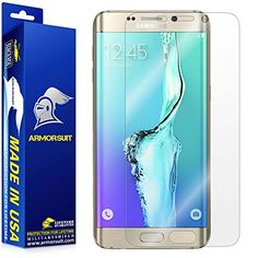 Samsung Galaxy S6 Edge Plus Screen Protector Full Coverage Armorsuit MilitaryShield w Lifetime Replacements  AntiBubble Ultra HD Premium Shield -- Find out more about the great product at the image link. (Note:Amazon affiliate link)