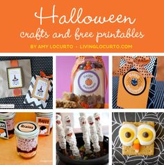 Great list of #Halloween Crafts & Free Party Printables by Amy Locurto at LivingLocurto.com