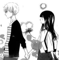 yanagi & kujou Romantic Anime Couples, Cute Anime Couples, Last Game Manga, Anime Monochrome, Ancient Magus Bride, Manga Couple, Estilo Anime, Manga Love, Manga Illustration