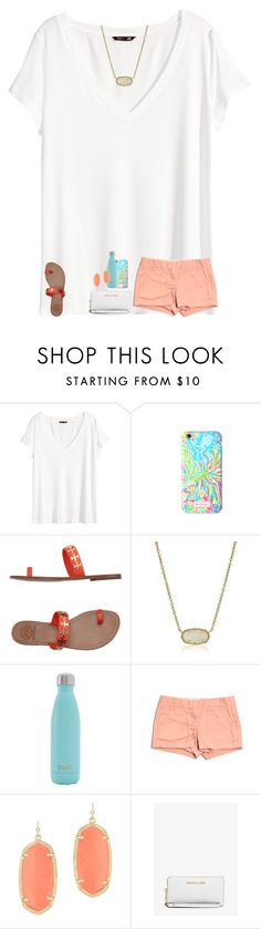 """""""rtd plzz"""" by texasgirlfashion ❤ liked on Polyvore featuring H&M, Lilly Pulitzer, Tory Burch, Kendra Scott, S'well, J.Crew and Michael Kors"""