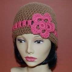 Pattern for Gracie Hat with Bow or Flower by petalstopicots, $3.50