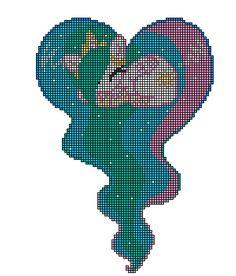 MLP Princess Celestia heart perler pattern by indidolph