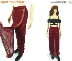 tEMPSALE Rare Salwar Pants w/Skirt/ India by MirrorballBoutique