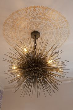 gorgeous brass sea urchin pendant chandelier from artistic designs for living