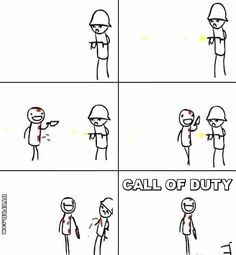 Call of Duty Knife Vs Gun Funny CoD Humor. hahahahahahahha. it's funny because it's true!!!