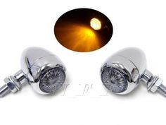 Motorcycle Bullet LED Indicators Turn Signal Lights for Harley Softail Bobber
