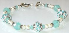 Swarovski Pacific Opal and pearls. Perfect for summer!