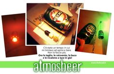 creating lamp with beer cans...