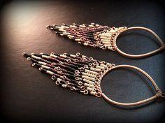 Long Wire Wrapped Boho Native Seed Bead Earrings on Etsy, $25.00