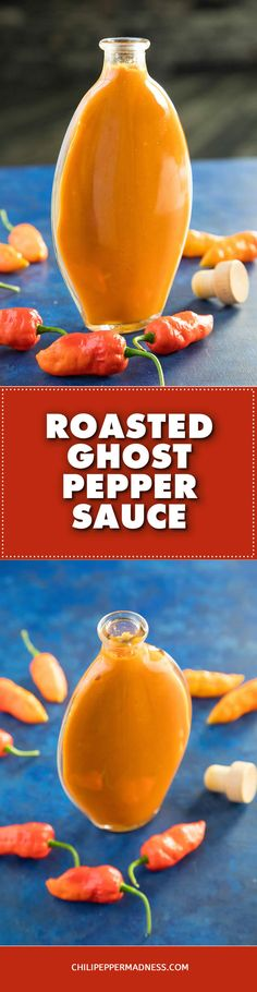 This roasted ghost pepper sauce recipe roasts several ghost peppers with carrots and garlic to make a very spicy yet also sweet sauce that can be used to enhance many dishes. Hot Sauce Recipes, Spicy Chicken Recipes, Mexican Food Recipes, Ghost Pepper Sauce, Ghost Peppers, Sauce For Chicken, Sweet Sauce, Easy Delicious Recipes, Homemade Sauce