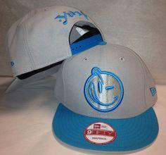 New Era 9Fifty Yums Snapback Cap Hat Shark Bait Gray Cyan Blue Smiley Face   8fa01a10972d