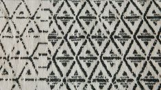 cream-and-black-rug-detail Monochrome Bedroom, Bedroom Black, Master Bedroom, Bed Company, Black Rug, Natural Rug, Rug Making, Abstract Pattern, Diamond Shapes