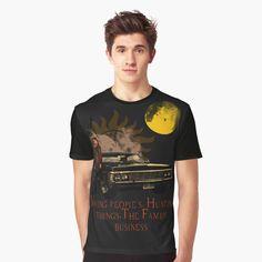 Supernatural Dean, Chevrolet Impala, Dean Winchester, Tv Series, People, Mens Tops, T Shirt, Supreme T Shirt, Tee Shirt