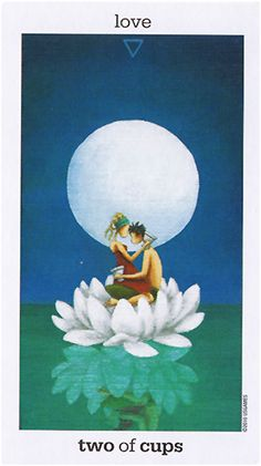 """Free Daily Tarotscope — Apr 11, 2015 — Two of Cups -- Venus enters Gemini today and brings with it opportunities for you to connect with your """"other half."""" Whether you're in a relationship or just looking, the Two of Cups is all about falling in love — either opening yourself up to new experiences or reigniting a connection with someone you're already involved with. (more)..."""