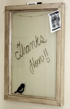 knot•sew•cute design shop: getting organized - DIY dry erase board.