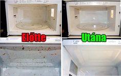 Hogyan tisztítsuk ki és varázsoljuk újjá régi mikrohullámú sütőnket Stacked Washer Dryer, Drip Coffee Maker, Interior Design Living Room, Microwave, Nova, Food And Drink, Kitchen Appliances, Cleaning, Decor Ideas