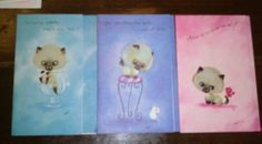 Vintage Siamese Kitten Get Well Greeting Cards