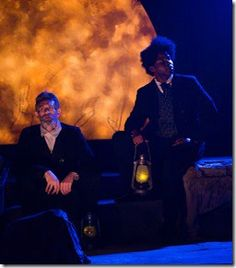 "Ron Wells and Warren Feagins star as John Brown and Frederick Douglass in Jackalope Theatre's world premiere of ""The Raid"" by Idris Goodwin, directed by Kaiser Ahmed. (photo credit: Joel Maisonet)"