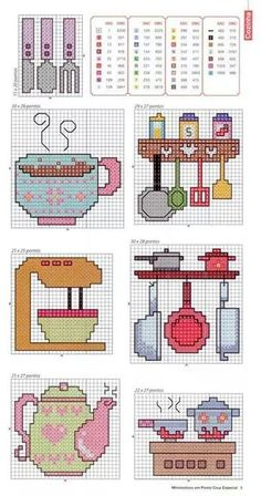 This post was discovered by Cecilia de Hernandez. Discover (and save!) your own Posts on Unirazi. Cross Stitching, Cross Stitch Embroidery, Cross Stitch Patterns, Beading Patterns, Crochet Patterns, Patchwork Blanket, Cross Stitch Kitchen, Needlepoint, Needlework