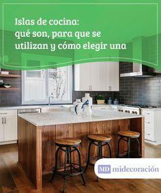 Islas de cocina: qué son y para qué se utilizan.  Las islas de cocina son el sueño de muchos amantes de la cocina. Permiten trabajar de una forma más ordenada y nos nos encontramos tan agobiados.  #islas #cocina #utilizar #amantes #trabajar #orden