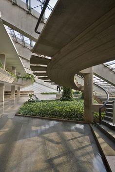 Cláudio Santoro National Theatre Brasilia  Foyer  Architect: Oscar Niemeyer 1968  Landscape architect: Roberto Burle Marx