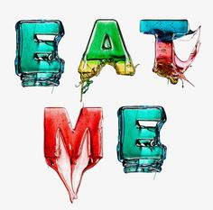 Melted Candy alphabet by Massimo Gammacurta