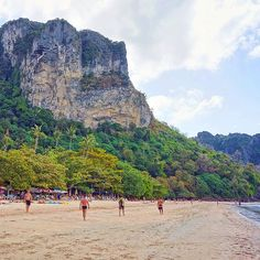 The picturesque surroundings of Ao Nang beach Krabi province Thailand. Actually there are a lot of beautiful places with incredible mountains and rocks in Krabi - for example Phuket doesn't have rocks like this. Krabi can be reached from Phuket in a few hours by bus or in an hour and a half by ferry. And there are direct flights from Bangkok Kuala Lumpur Singapore and other cities. __________ Живописные окрестности пляжа Ао Нанг провинция Краби Таиланд. Вообще в Краби очень много красивейших…