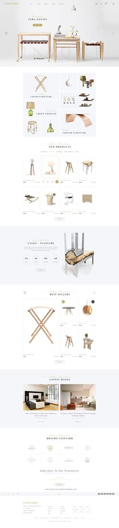 Vineyard is a super clean and modern Responsive WooCommerce WordPress Theme perfect for wine shop or #furniture #store #website. It has 4 stunning homepage layouts.